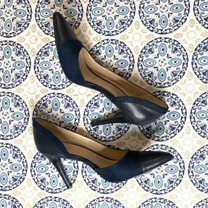 Nine West Navy Alvaa D'orsay Navy Pumps Heel Shoes